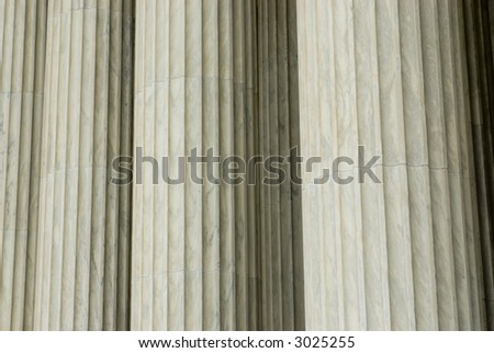 Columns and steps background texture U.S. Supreme Court building - stock photo