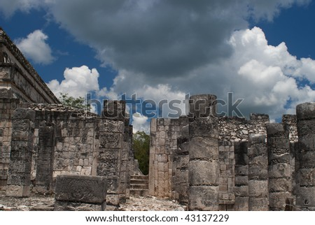 Columns at Chichen Itza
