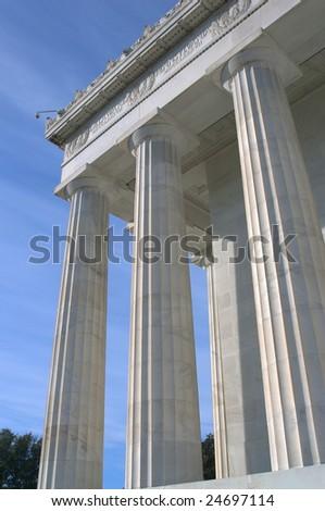 Columns at the Lincoln Memorial, Washington, DC - stock photo