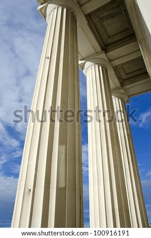 Columns from Auckland War Memorial Museum - stock photo