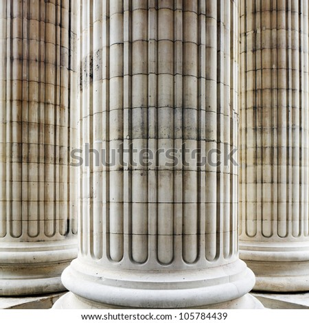 Columns in Paris - stock photo