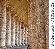 Columns in Rome - stock photo
