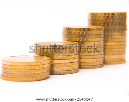 "columns of ""gold"" coins"
