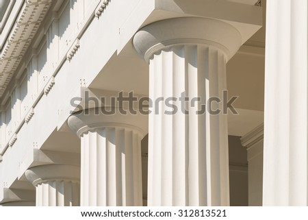 Columns Of Justice - stock photo