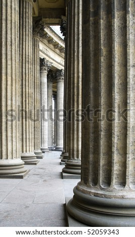 Columns of Kazan Cathedral in St. Petersburg