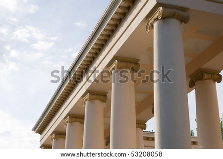 Columns of theater with ionic order
