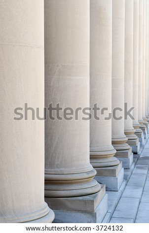 Columns on entrance of Widener Library, Harvard University