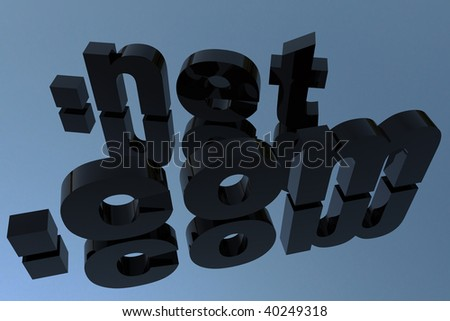 com and net domains in 3D - stock photo