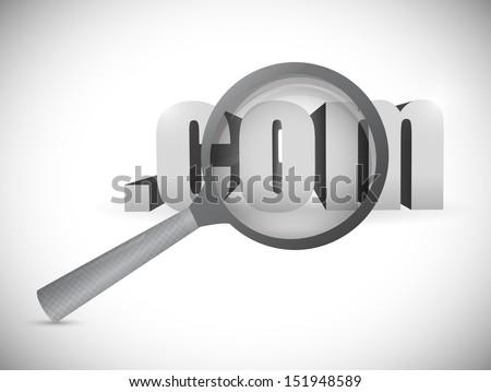com domain exploration concept. illustration design over a white background - stock photo