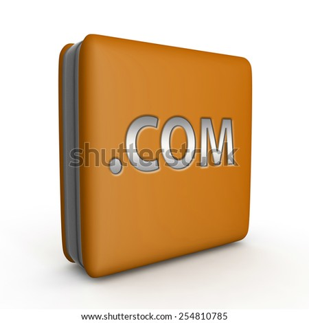 Com square icon on white background - stock photo
