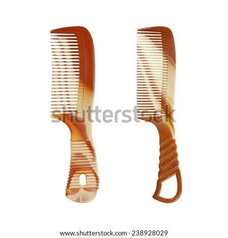 comb isolated on white background - stock photo