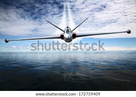 Combat aircraft  - stock photo