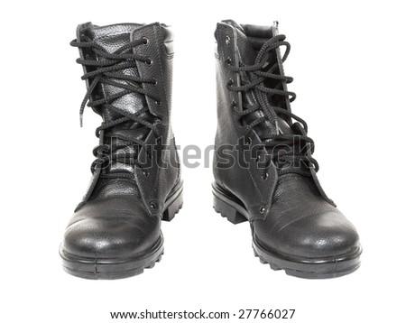 Combat boots - stock photo