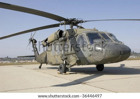 Combat Chopper - stock photo