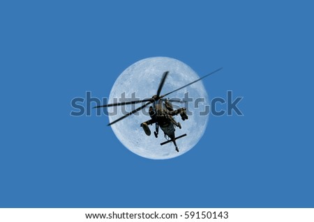 combat helicopter - stock photo