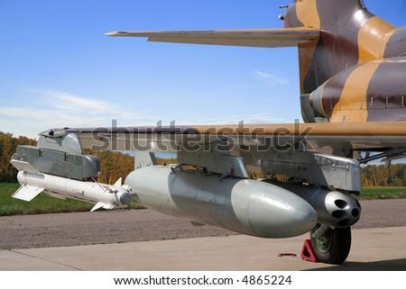 Combat plane - stock photo