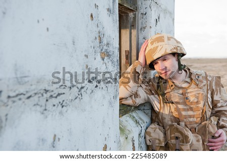 Combat Stress - stock photo