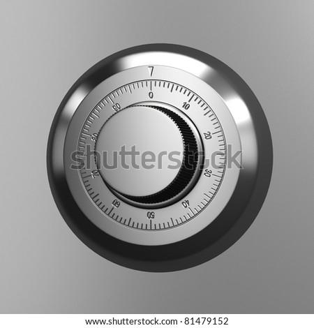 Combination lock. Close up render. - stock photo
