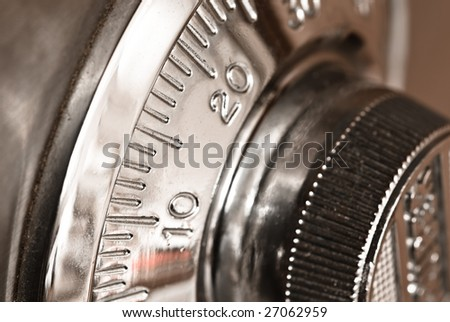 combination lock closeup - stock photo