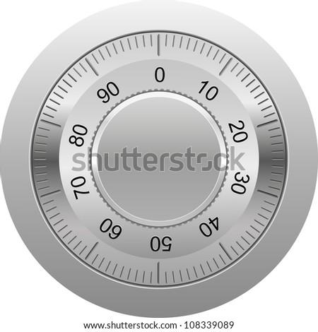 combination lock illustration isolated on white background - stock photo