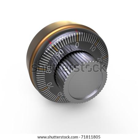 Combination lock of a safe - stock photo