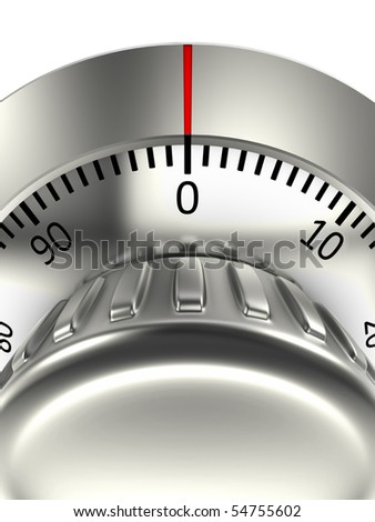 Combination lock of bank safe - stock photo