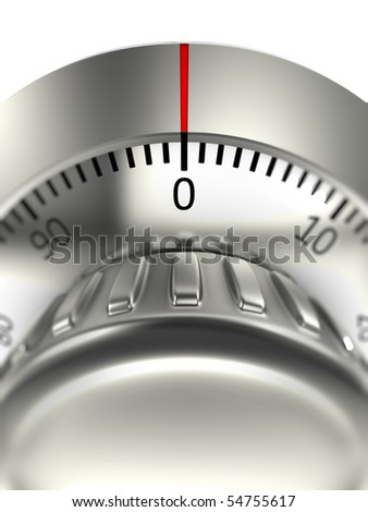 Combination lock with bokeh - stock photo