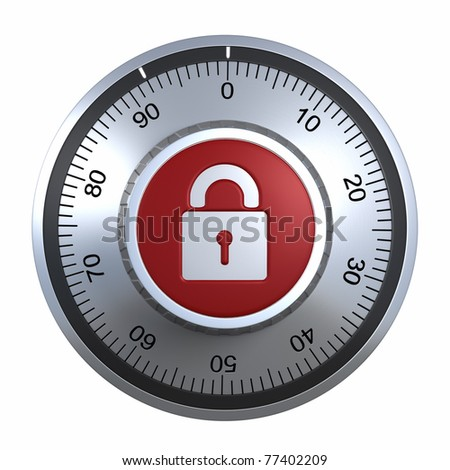 Combination Lock with padlock .clipping path included - stock photo