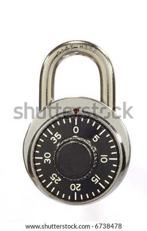 Combination Padlock is locked