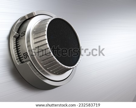 Combination safe dial lock. Concept of banking.  Closeup background. 3d - stock photo