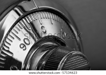 combination safe lock - stock photo