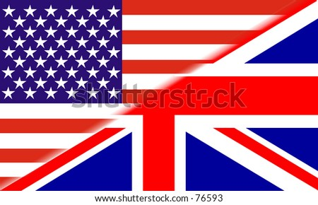 Combined flag of the USA and Great Britain