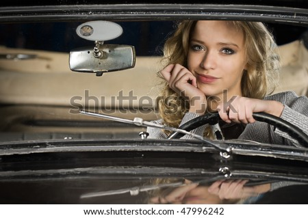 come on baby, drive my car - stock photo