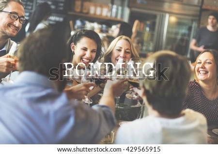 Come Together Celebration Bonding Friends Party Concept - stock photo
