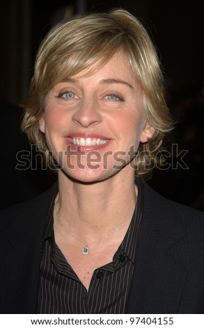 Comedienne ELLEN DEGENERES at the 2003 Hollywood Awards at the Beverly Hills Hilton. Oct 20, 2003  Paul Smith / Featureflash