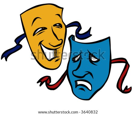 Comedy/Tragedy masks - stock photo