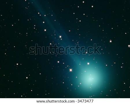 Comet C/2006 Q4 'The Swan' - stock photo