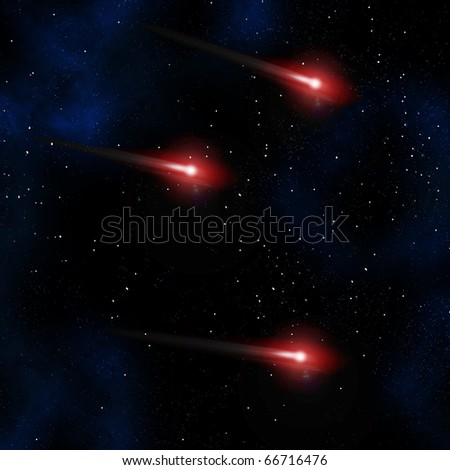 Comet in the space area - stock photo
