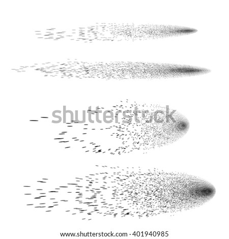 Comet on a white background - stock photo