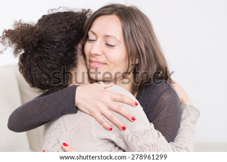 Comfort a friend - stock photo