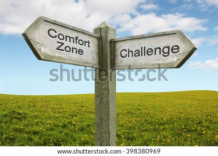 Comfort Zone/ Challenge on Green Flower Landscape