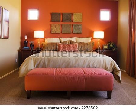 Comfortable Bedroom - stock photo