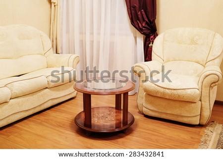 Comfortable classic living room - stock photo