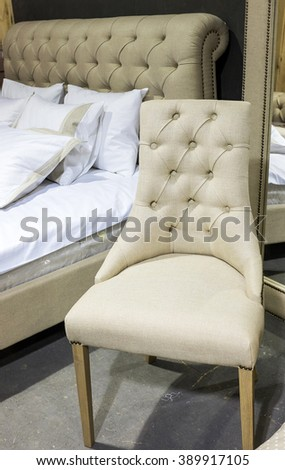 Comfortable classic white chair