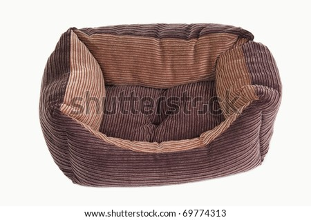 Comfortable cot for puppies and kittens, isolated - stock photo