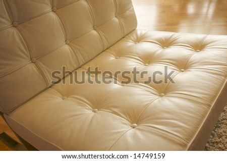 Comfortable Leather Chair Abstract - stock photo