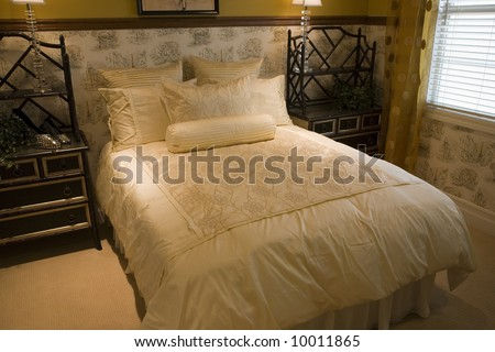 Comfortable modern bedroom. - stock photo