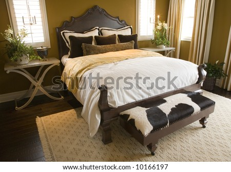 Comfortable modern designer bedroom Beautiful Bedroom Interior Showcase Stock Images  Royalty Free  . Bedroom Showcase Designs. Home Design Ideas