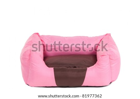 Comfortable pink cot for small pets - stock photo