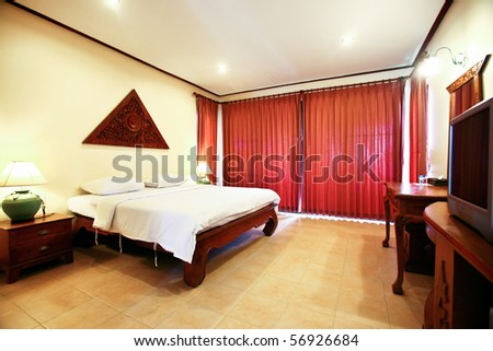 Comfortable room in luxury hotel